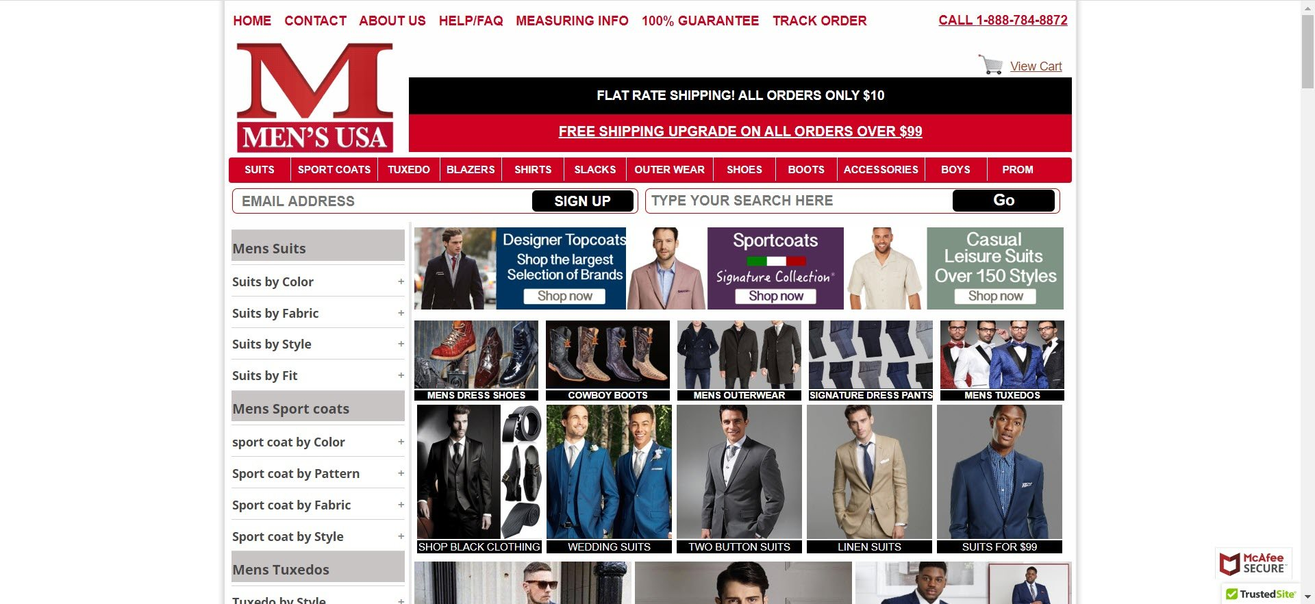 mens clothing affiliate programs - mensusa