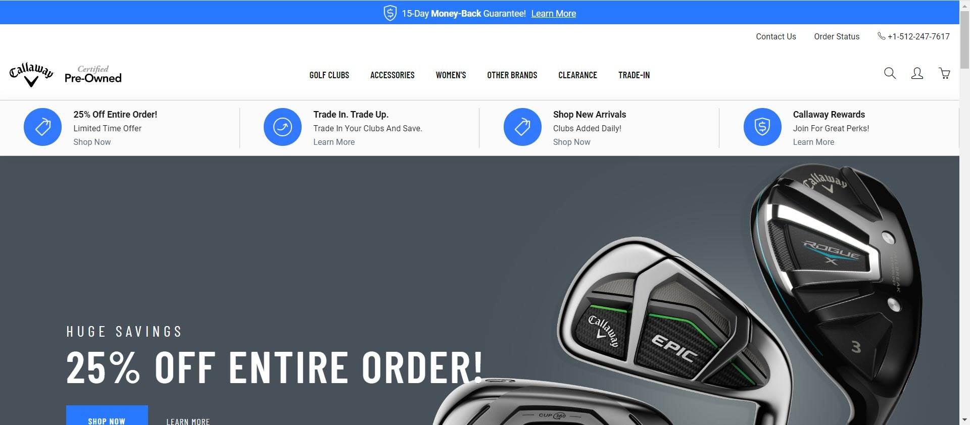 Best Golf Affiliate Programs - Callaway pre owned