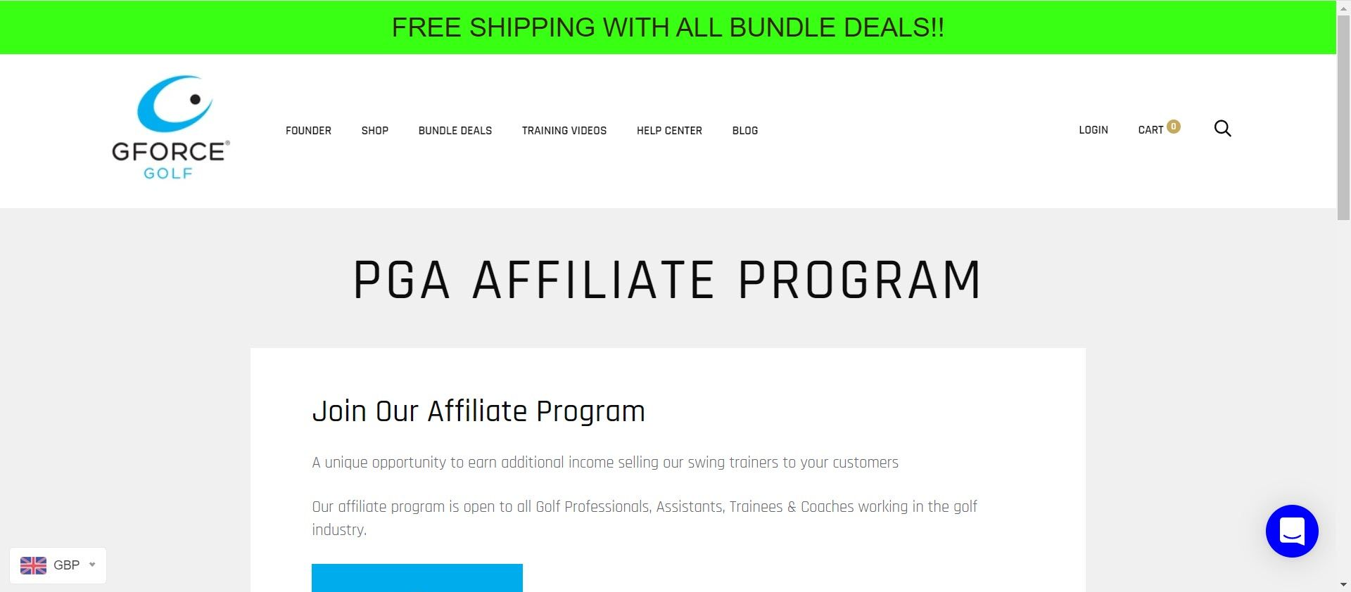 Best Golf Affiliate Programs - Gforce golf affiliate