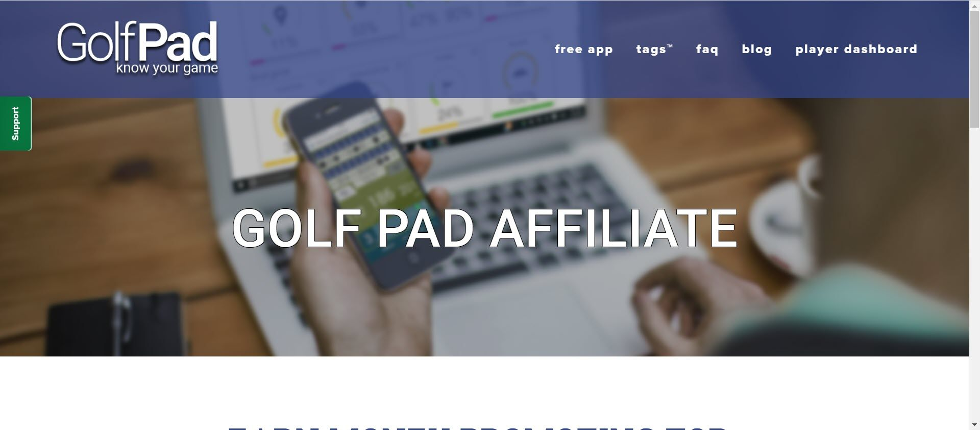 Best Golf Affiliate Programs - Golf Pad Affiliate