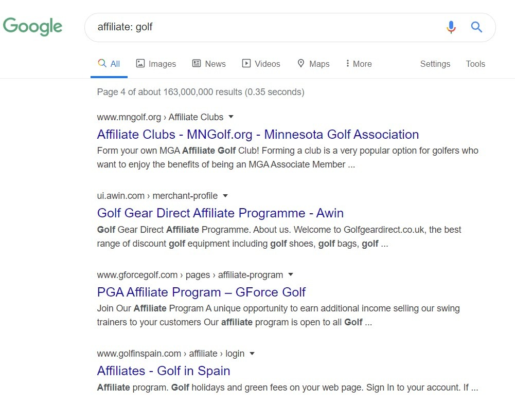 Best Golf Affiliate Programs - golf affiliate
