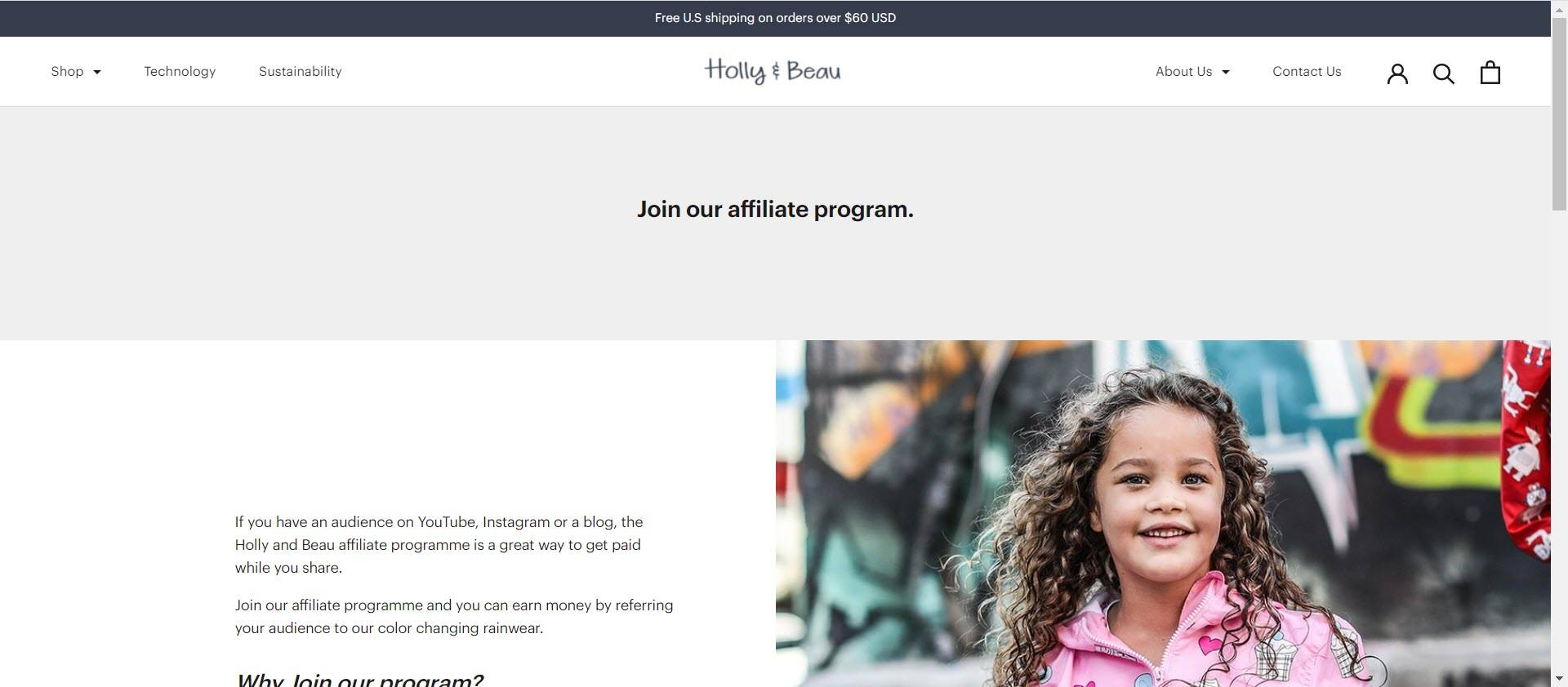 Kids Clothes Affiliate Programs - Holly and Beau affiliate