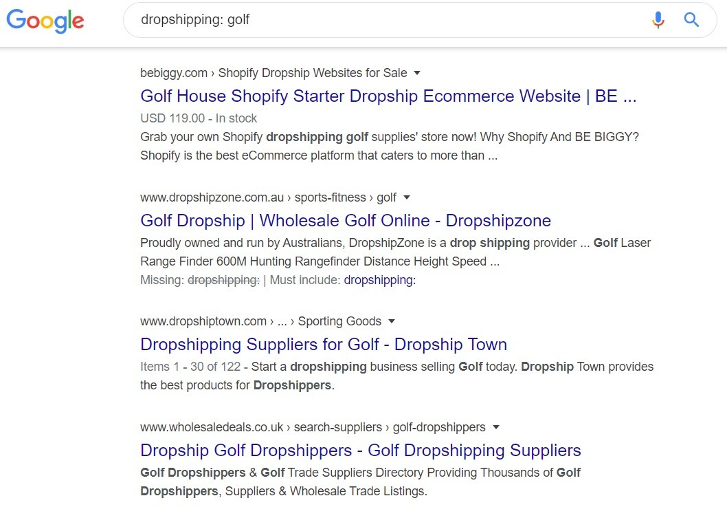 Make Money Selling Golf Equipment Online - dropship