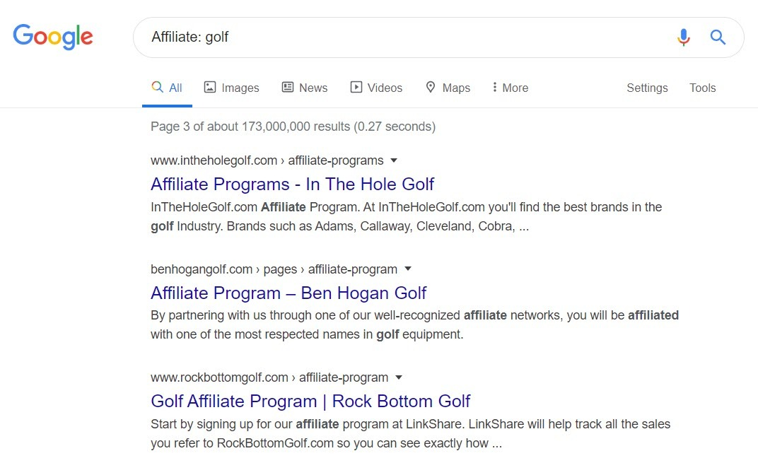 Make Money Selling Golf Equipment Online - golf affiliate