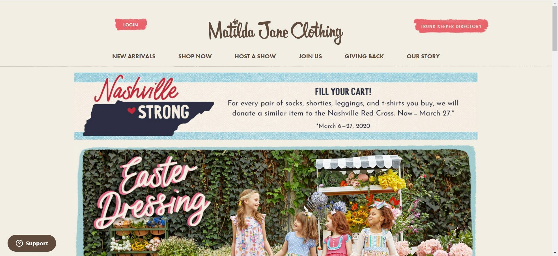 Matilda Jane Clothing MLM Review - Home
