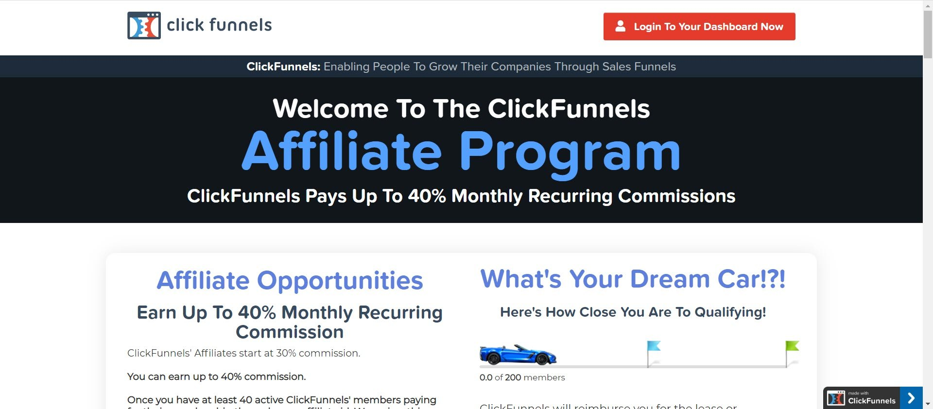 recurring Affiliate programs - Click funnels affiliate