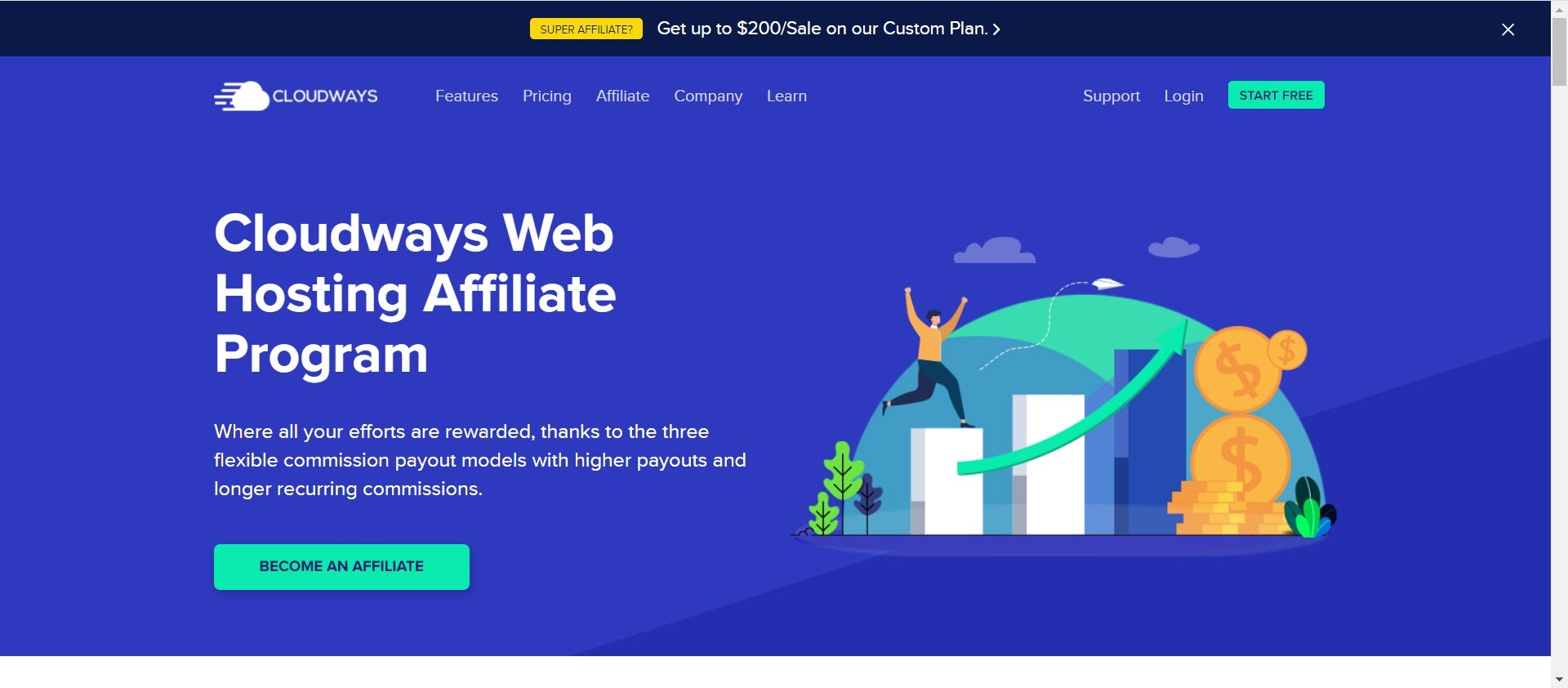 recurring Affiliate programs - cloudways affiliate