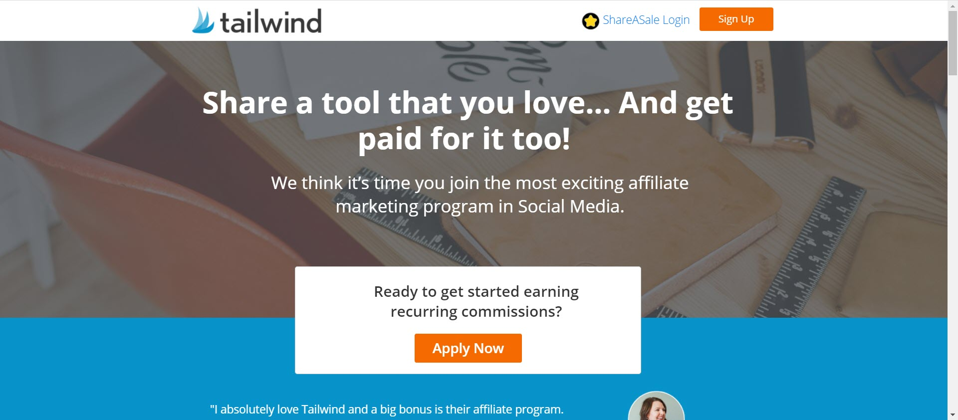 recurring Affiliate programs - tailwind affiliate