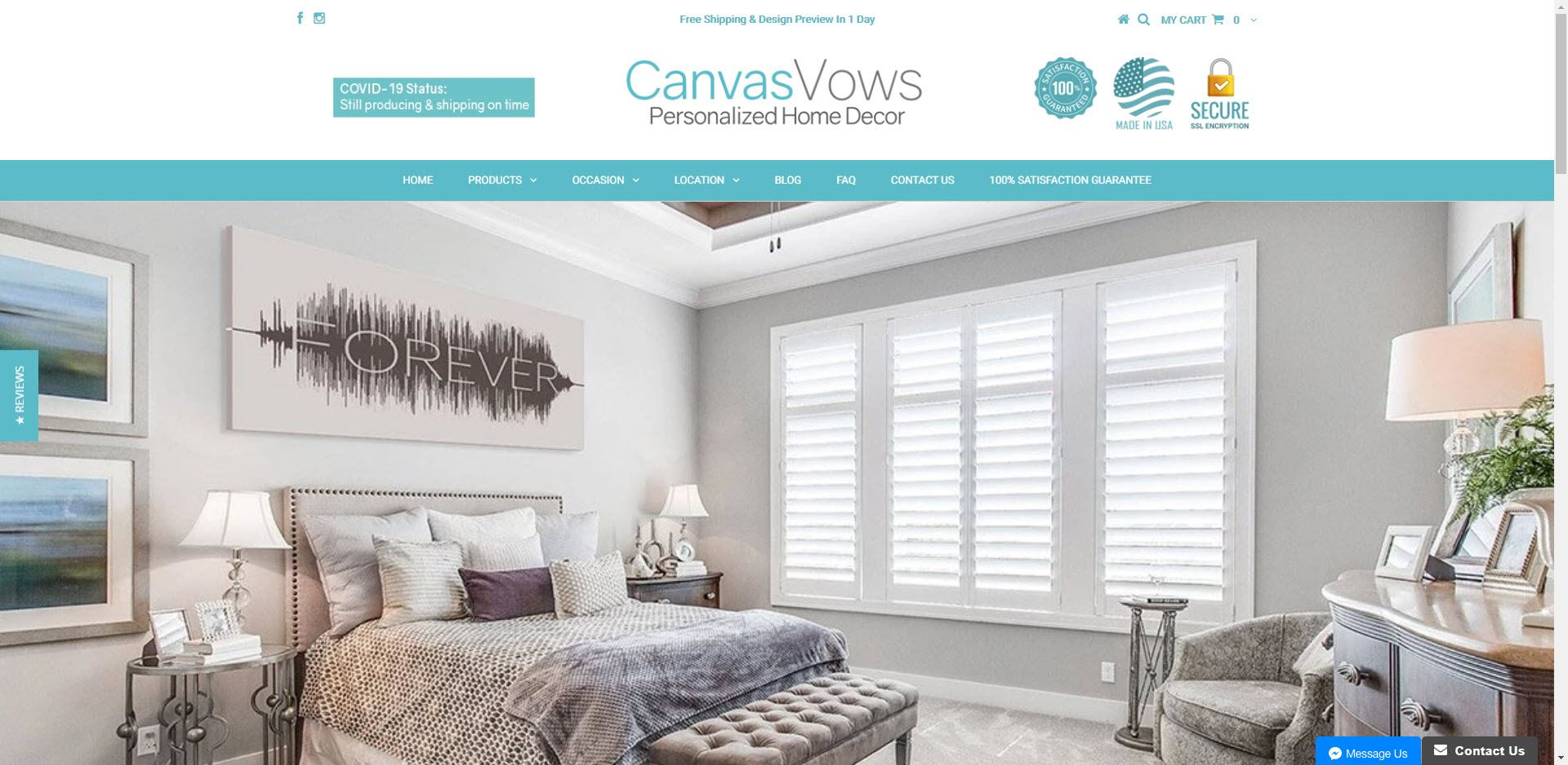 Home Decor Affiliate programs - Canva Vows Home