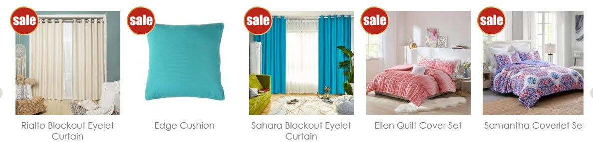 Home Decor Affiliate programs - Curtain Wonderland Stripe