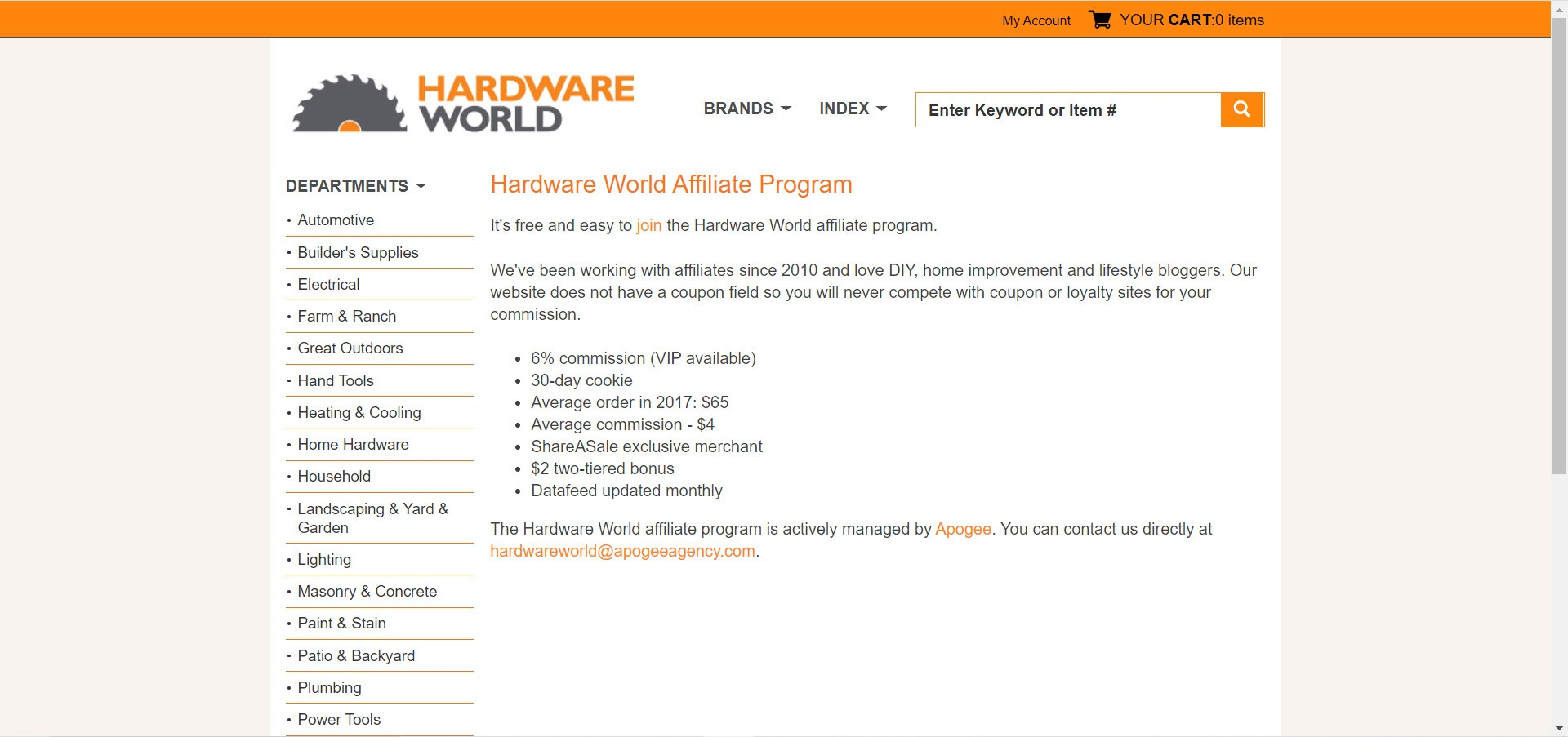 Home Decor Affiliate programs - Hardware World Affiliate