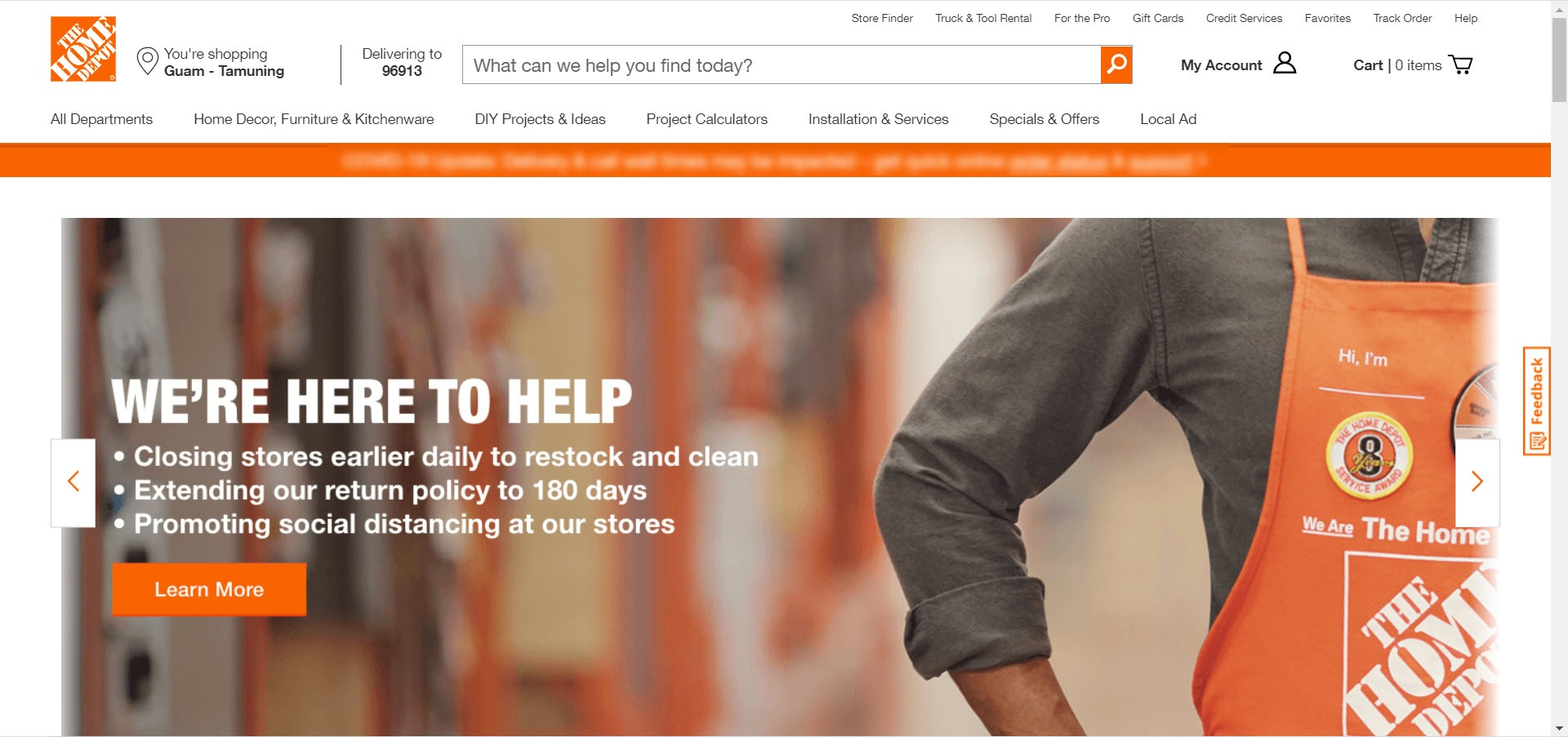 Home Decor Affiliate programs - Home Depot