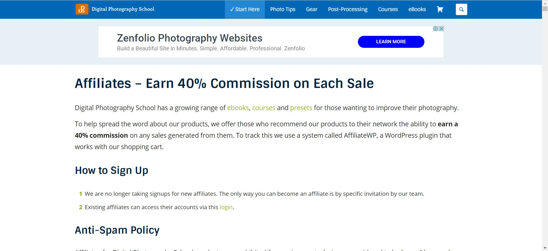 Photography Affiliate Programs - Digital Photography School affiliate