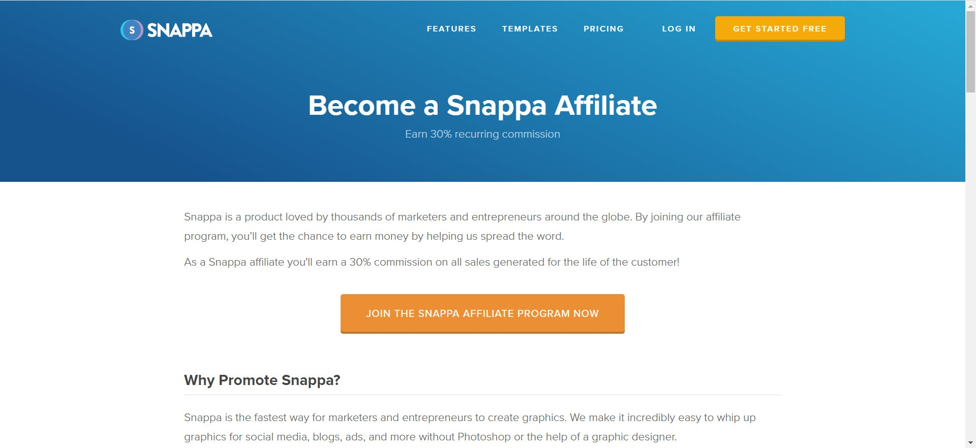 Photography Affiliate Programs - Snappa affiliate
