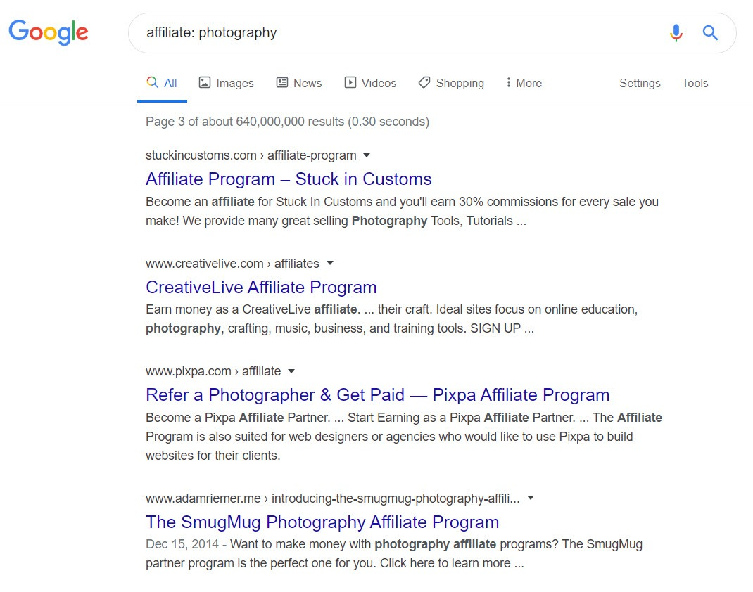 Photography Affiliate Programs - affiliates