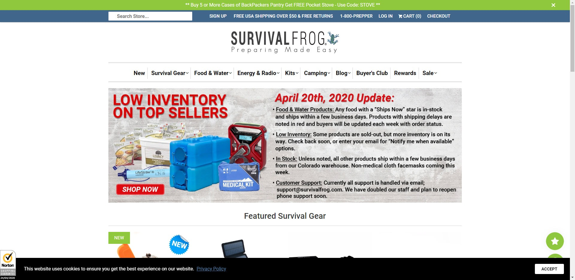 Survival Affiliate Programs - Survival Frog