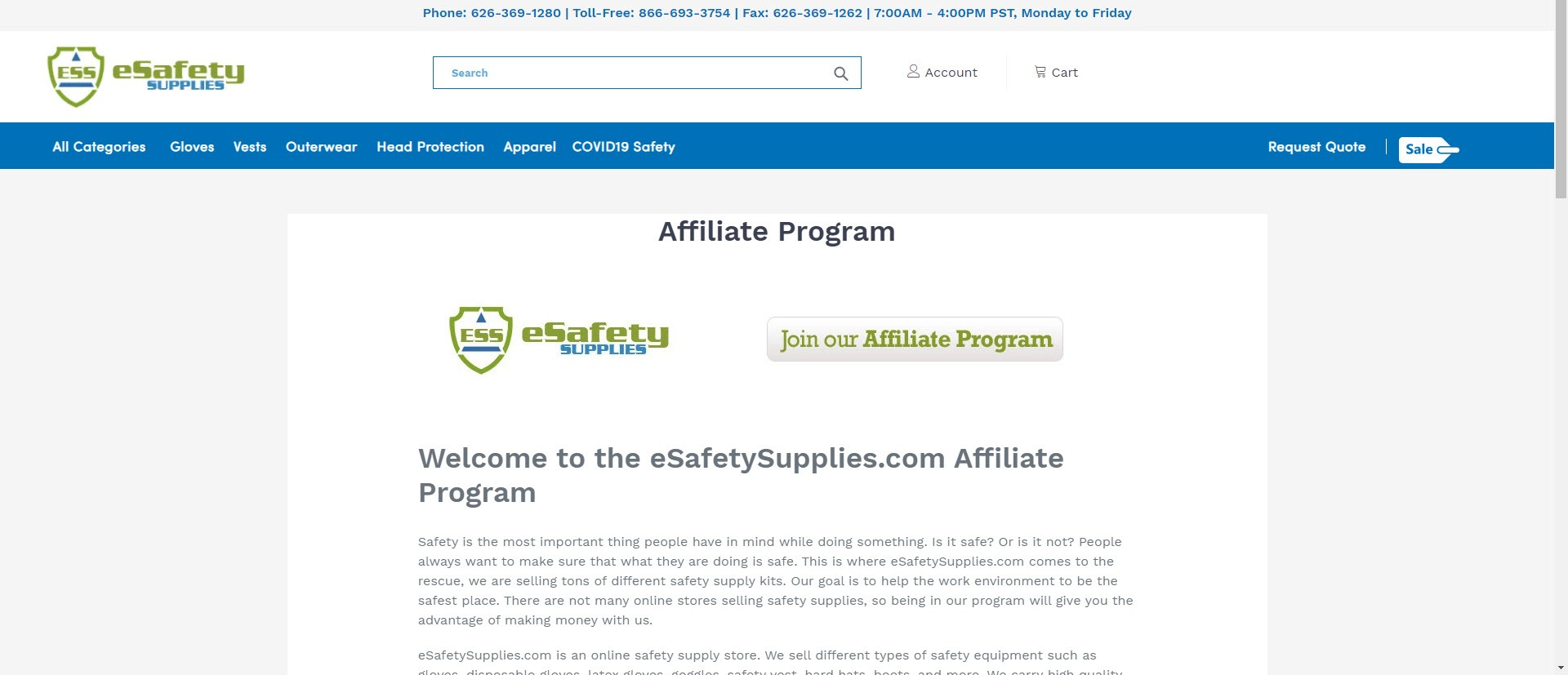 Survival Affiliate Programs - eSafety Supplies Affiliate