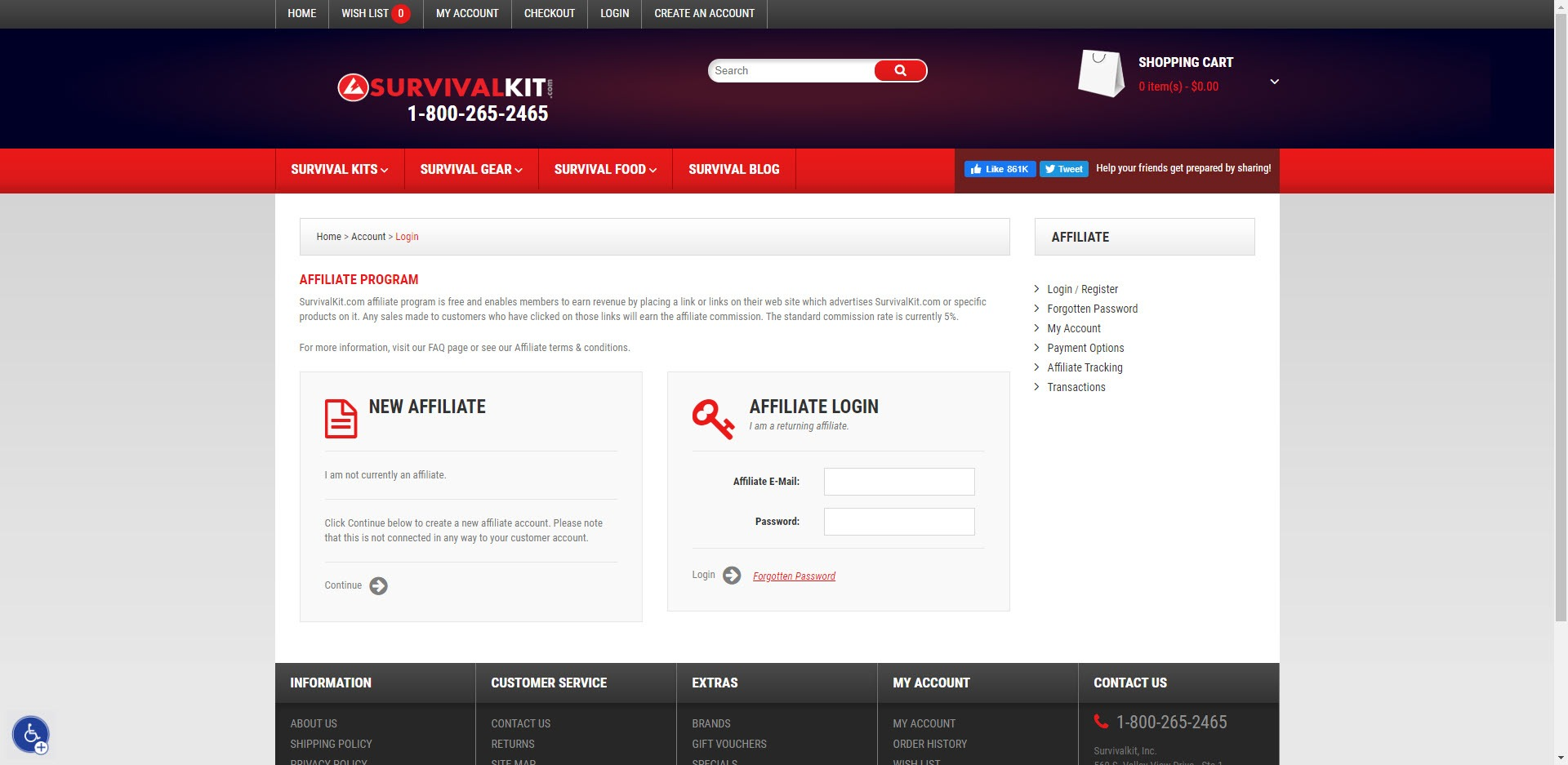 Survival Affiliate Programs - survivalkit affiliate