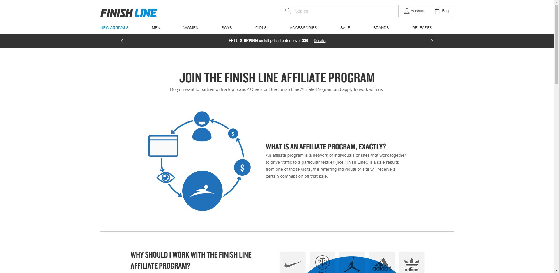 Activewear Affiliate Programs - Finish line affiliate