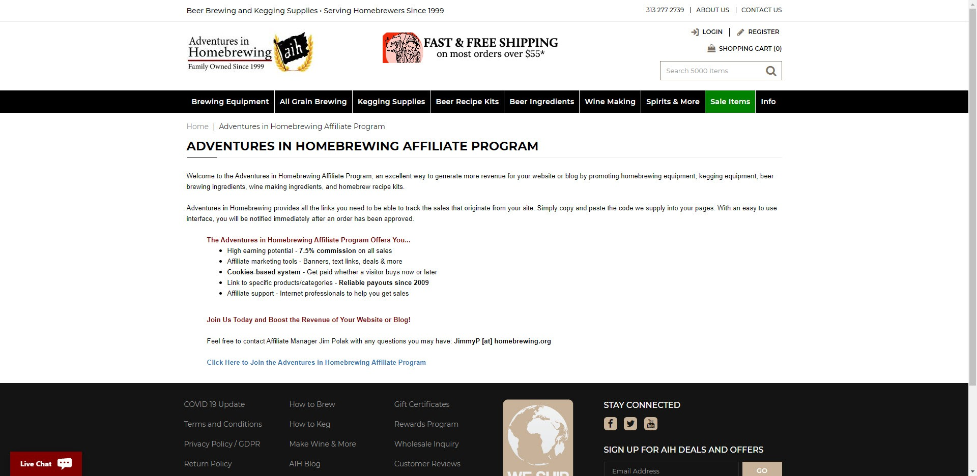 Beer affiliate programs - Adventures in Home Brewing Affiliate