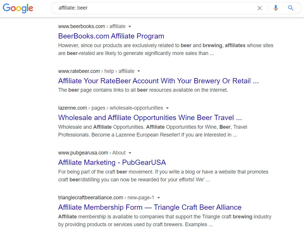 Beer affiliate programs - Affiliate options