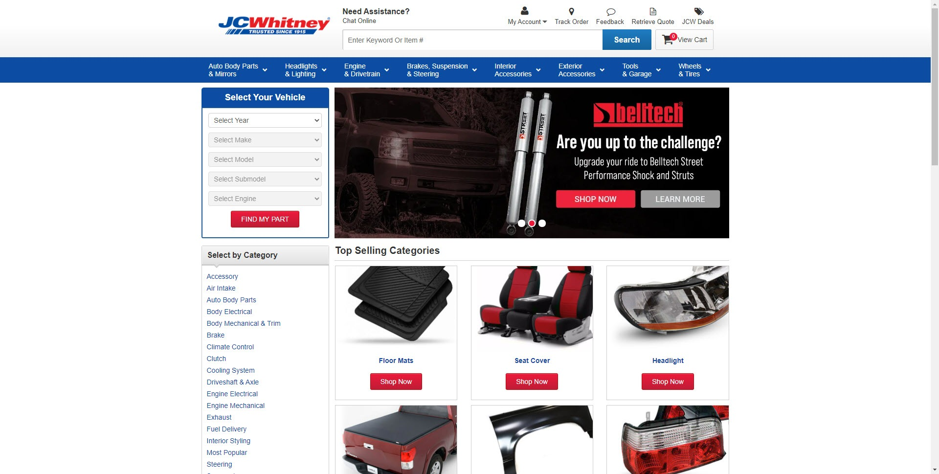 Car Parts Affiliate Programs - JC Whitney