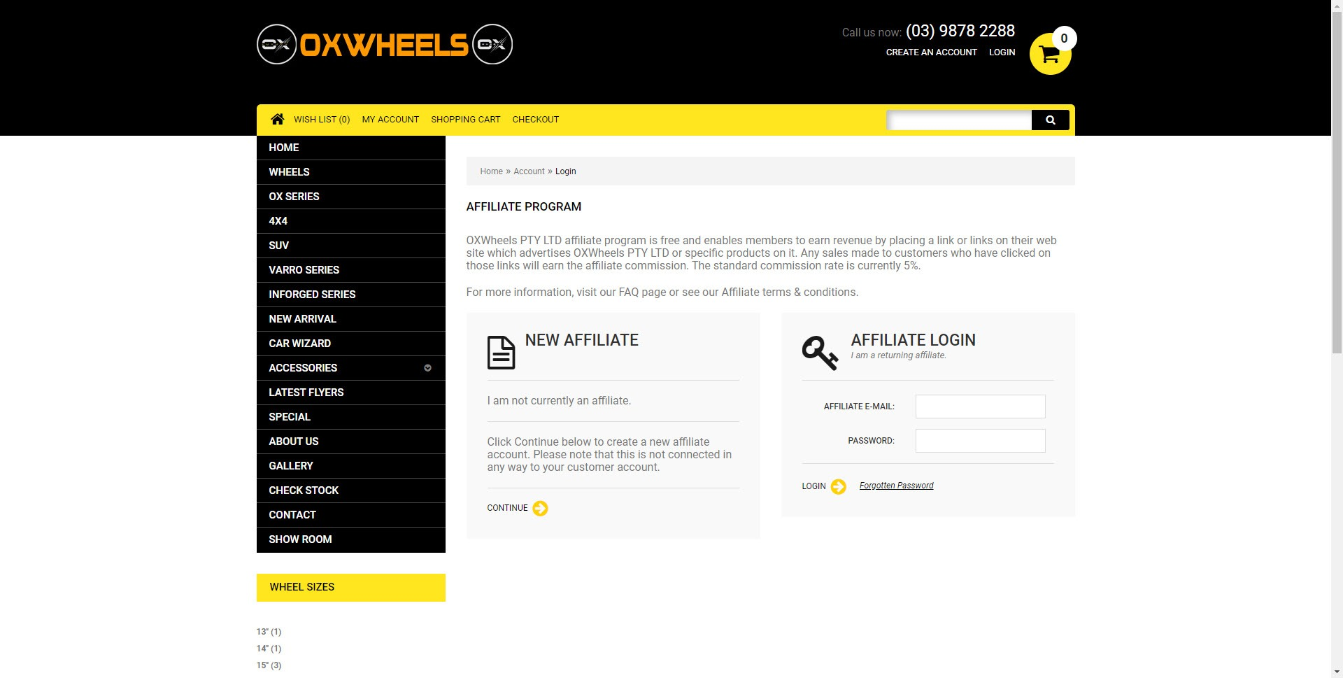 Car Parts Affiliate Programs - Ox Wheels affiliate