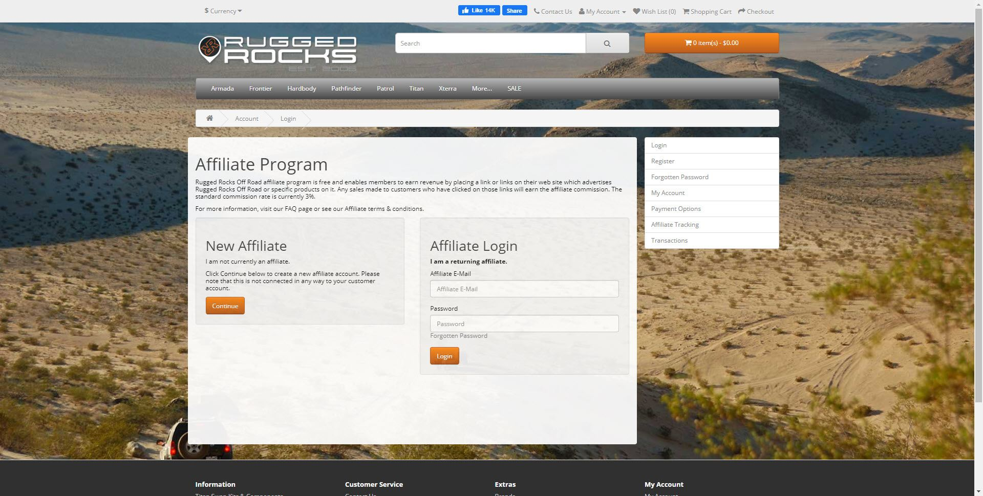Car Parts Affiliate Programs - Rugged Rocks affiliate