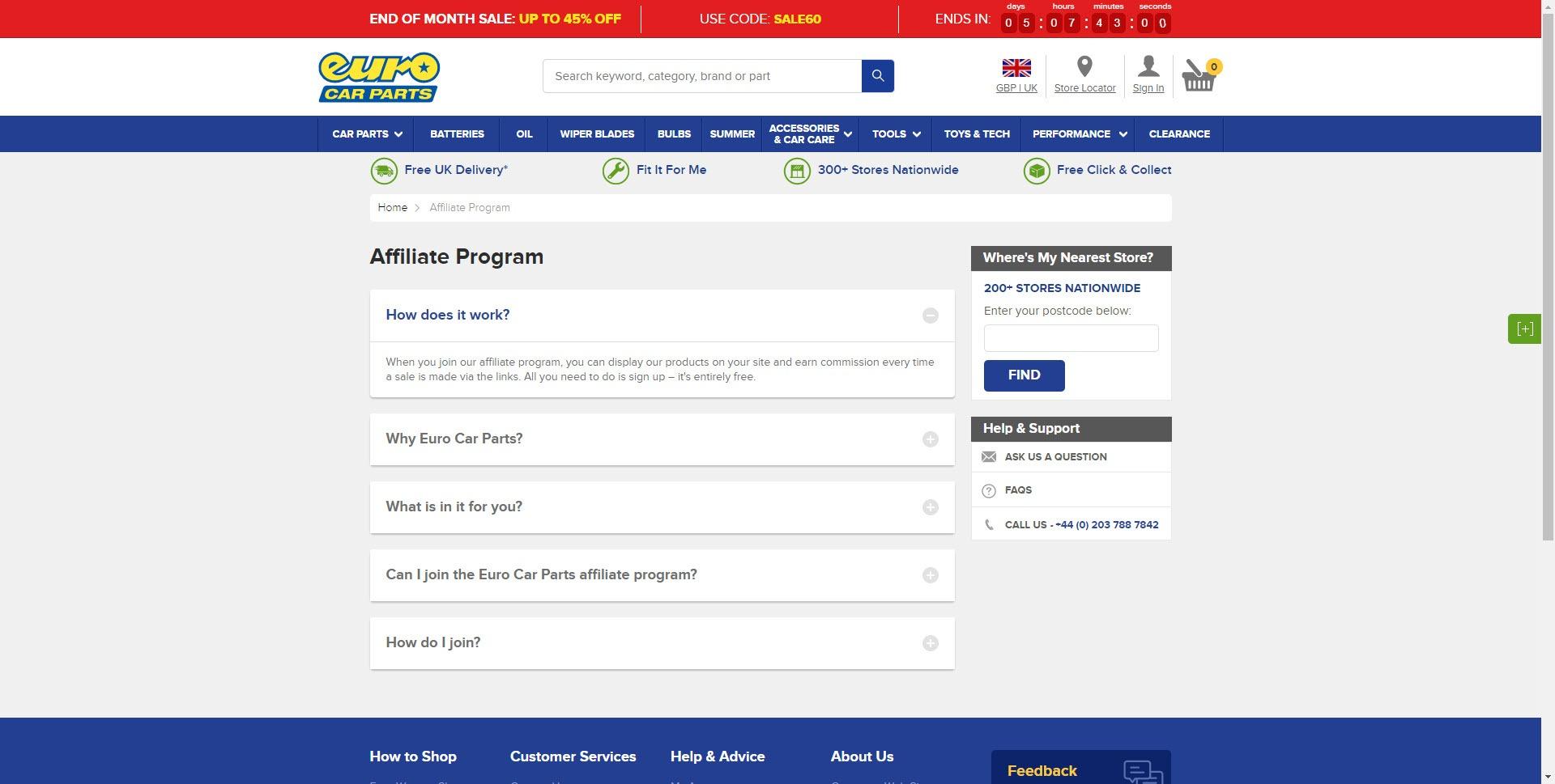 Car Parts Affiliate Programs - euro car parts affiliate
