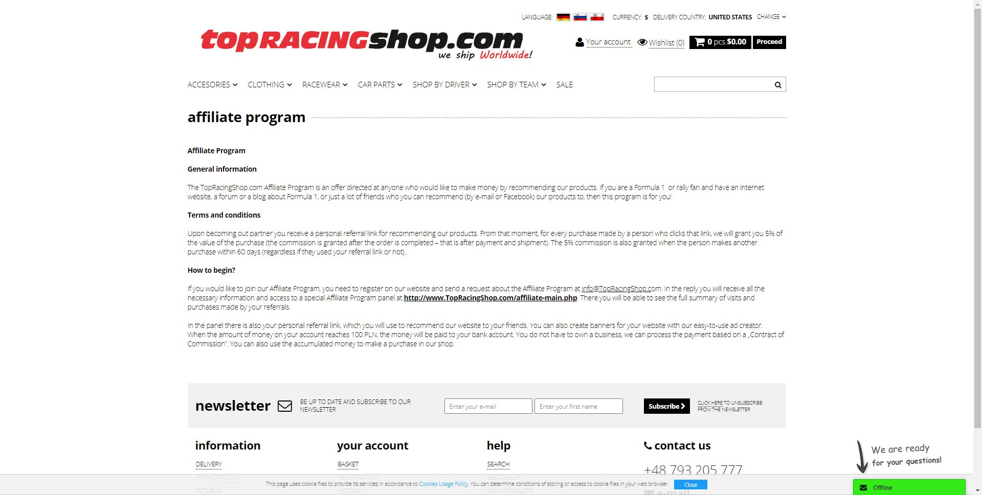 Car Parts Affiliate Programs - topracingshop affiliate