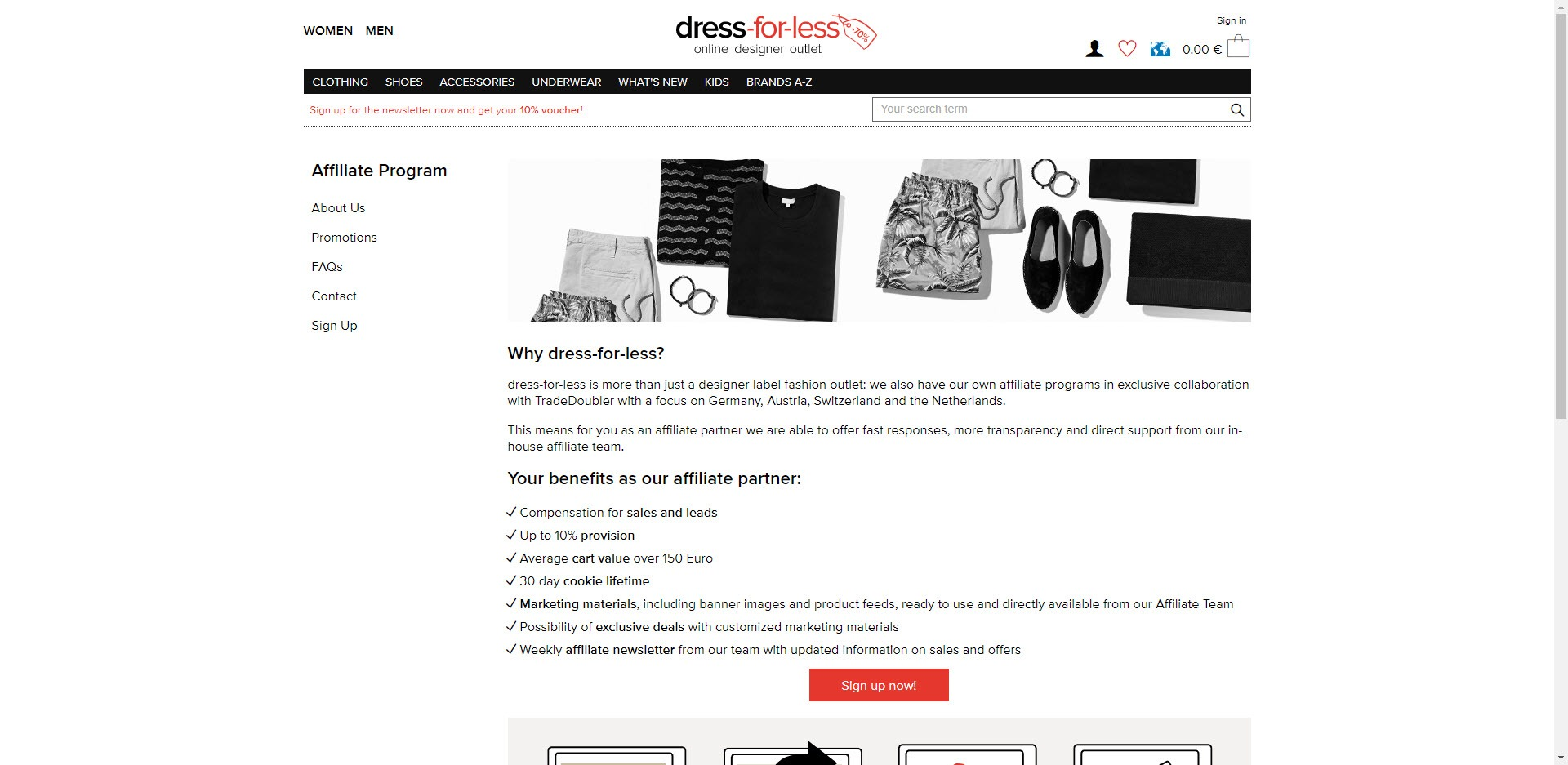 Fashion Designer Affiliate Programs - dress for less affiliate
