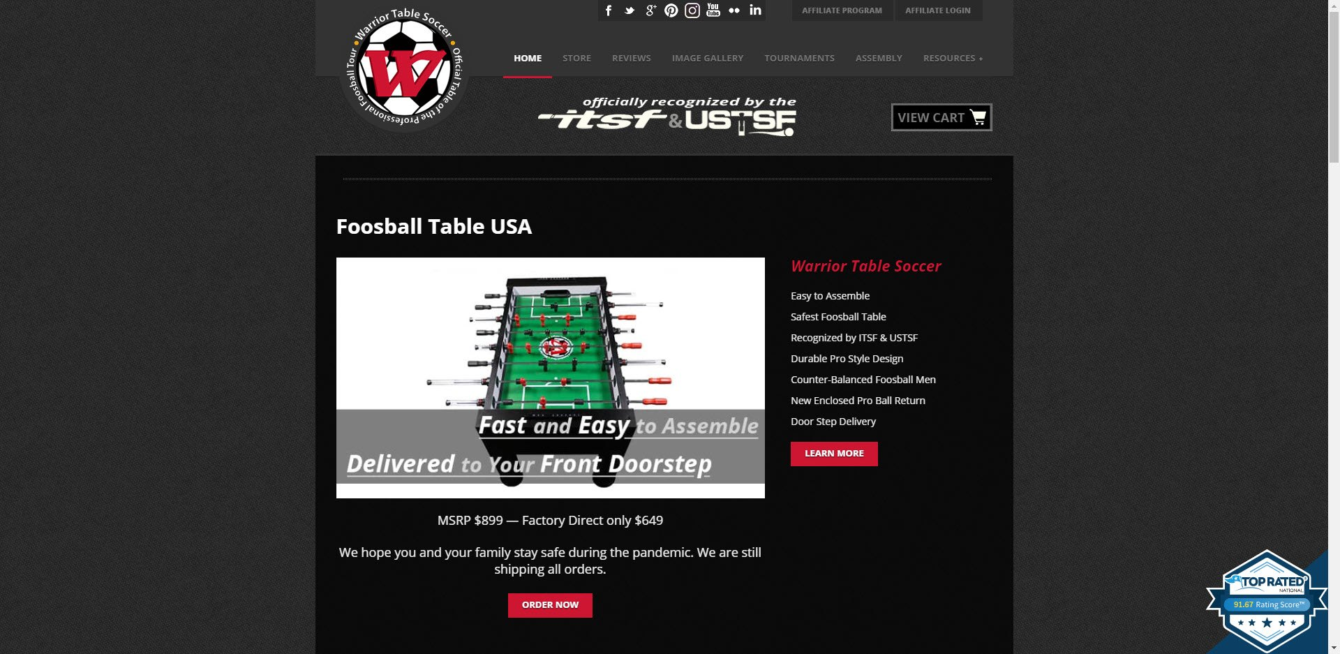 Man Cave Affiliate Programs - Warrior Table Soccer