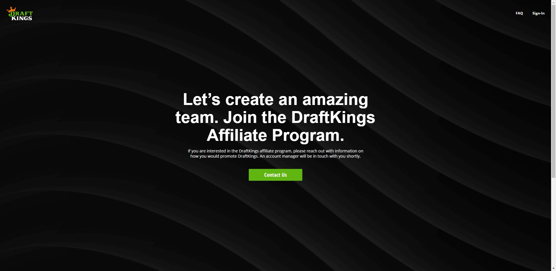 Sports Affiliate Programs - Draft Kings Affiliate