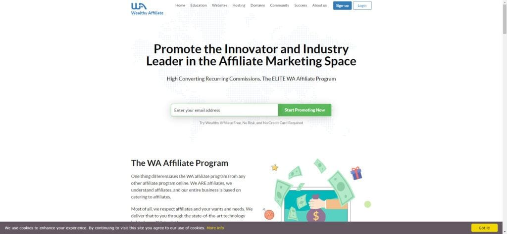 Wealthy Affiliate Affiliate Program Review - Affiliate Page