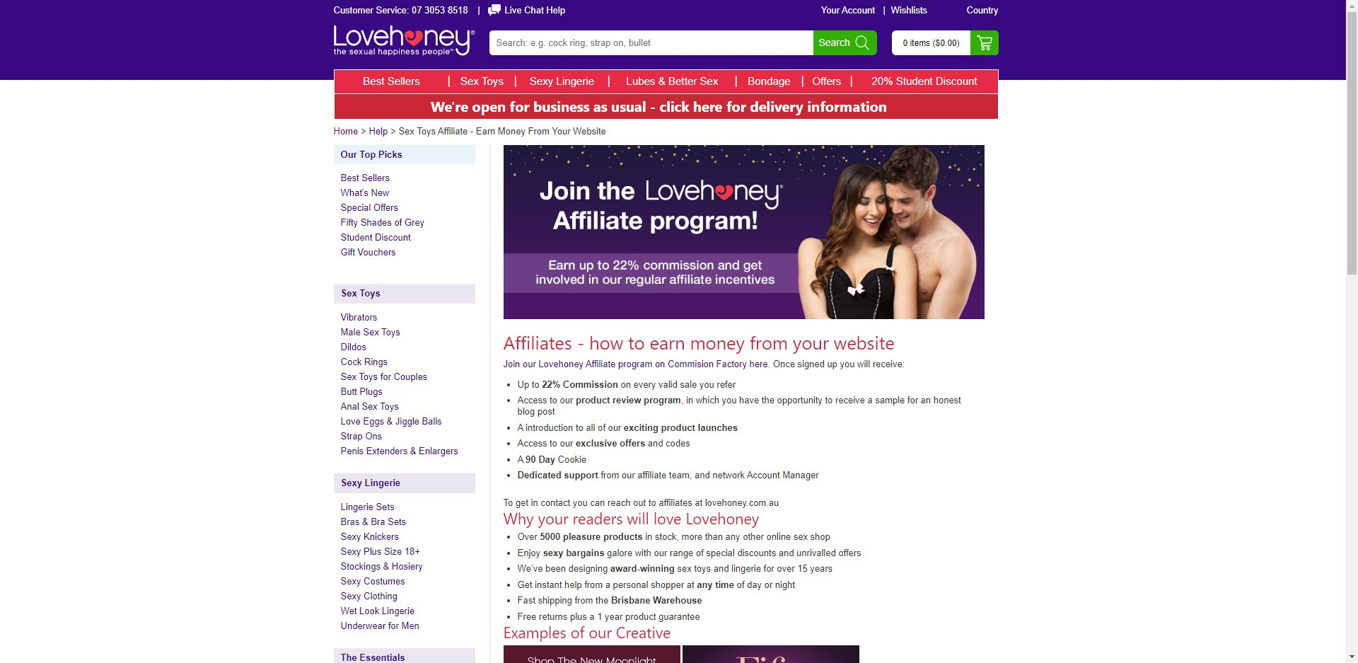 adult affiliate programm web site