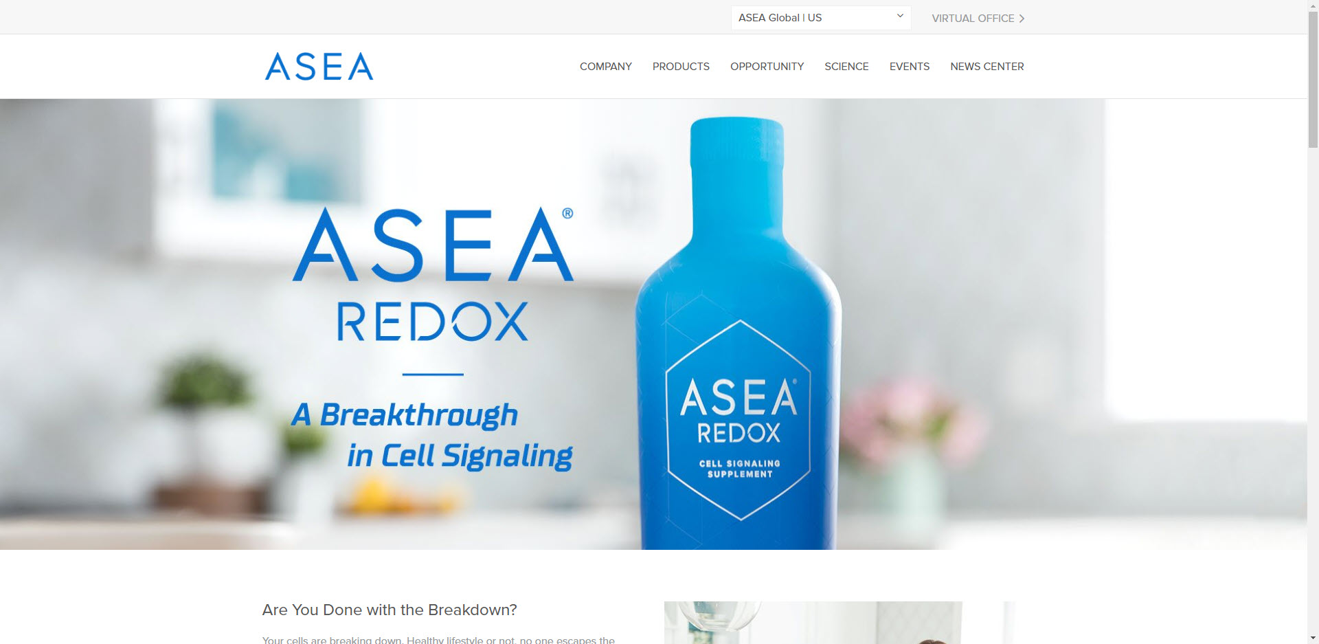 Asea MLM Review - Home