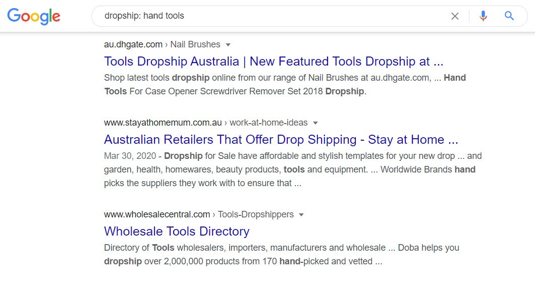 How To Sell Tools Online - drop ship