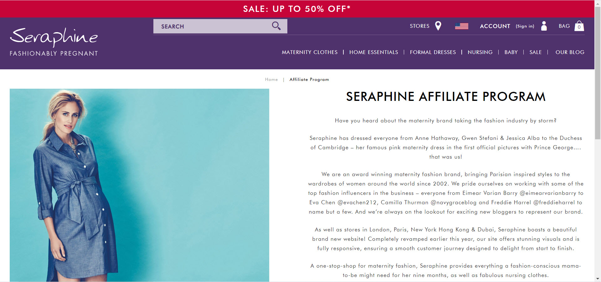 Maternity Affiliate Programs - Seraphine Affiliate