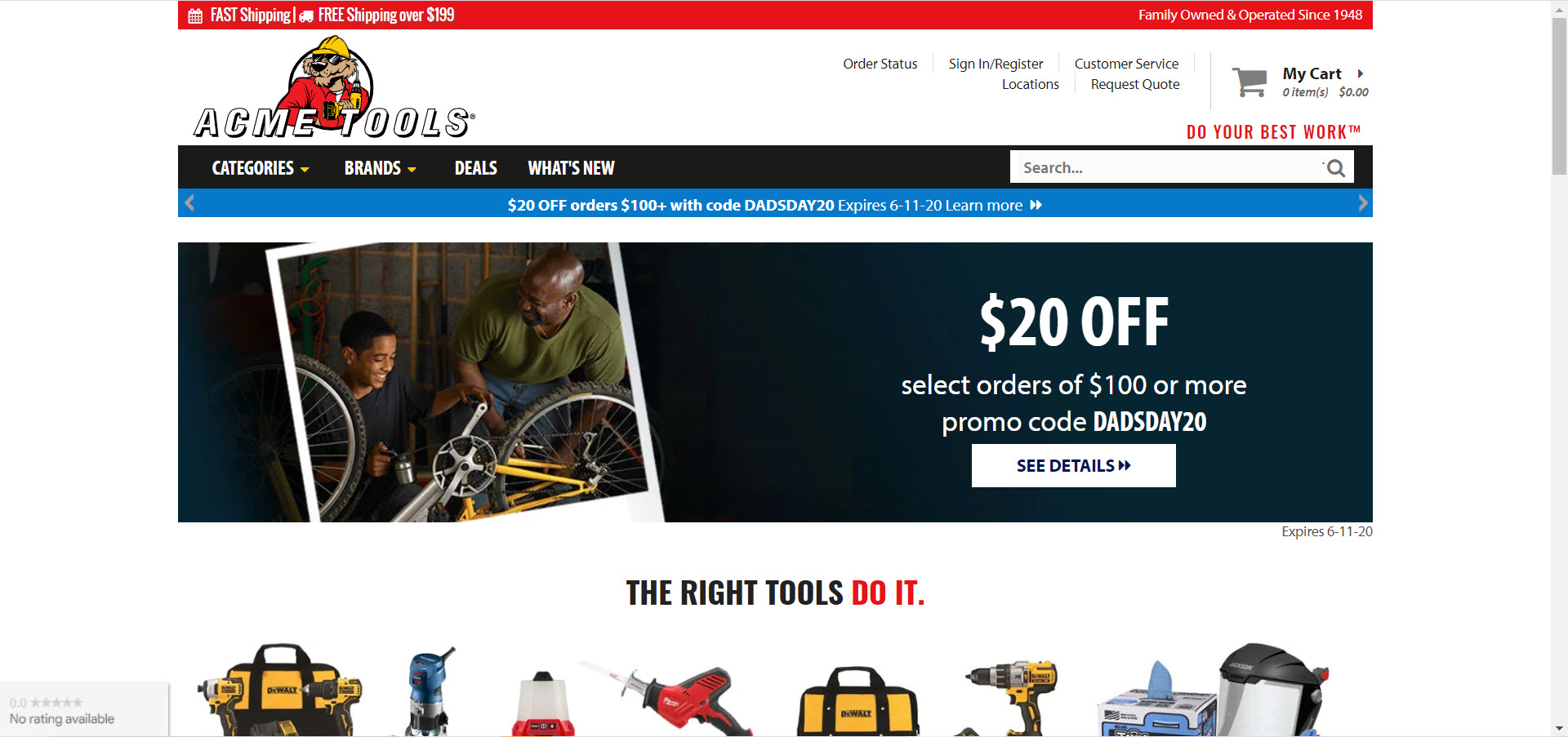 Power tools affiliate programs - ACME tools