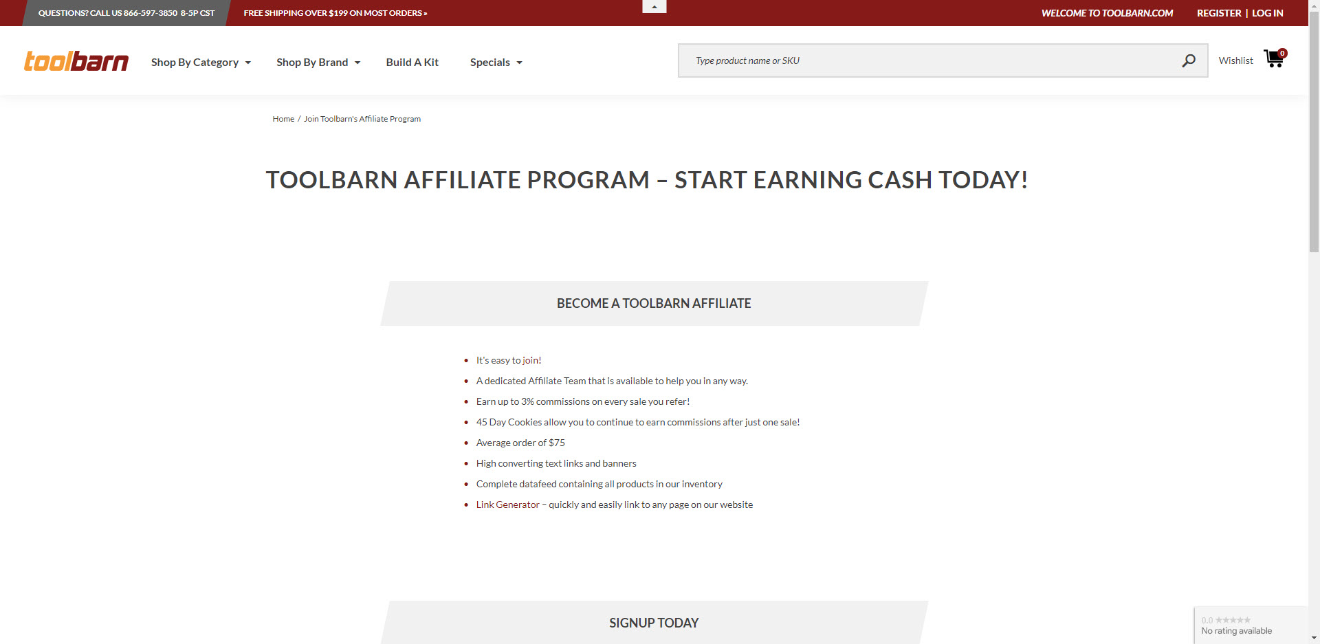 Power tools affiliate programs - toolbarn affiliate