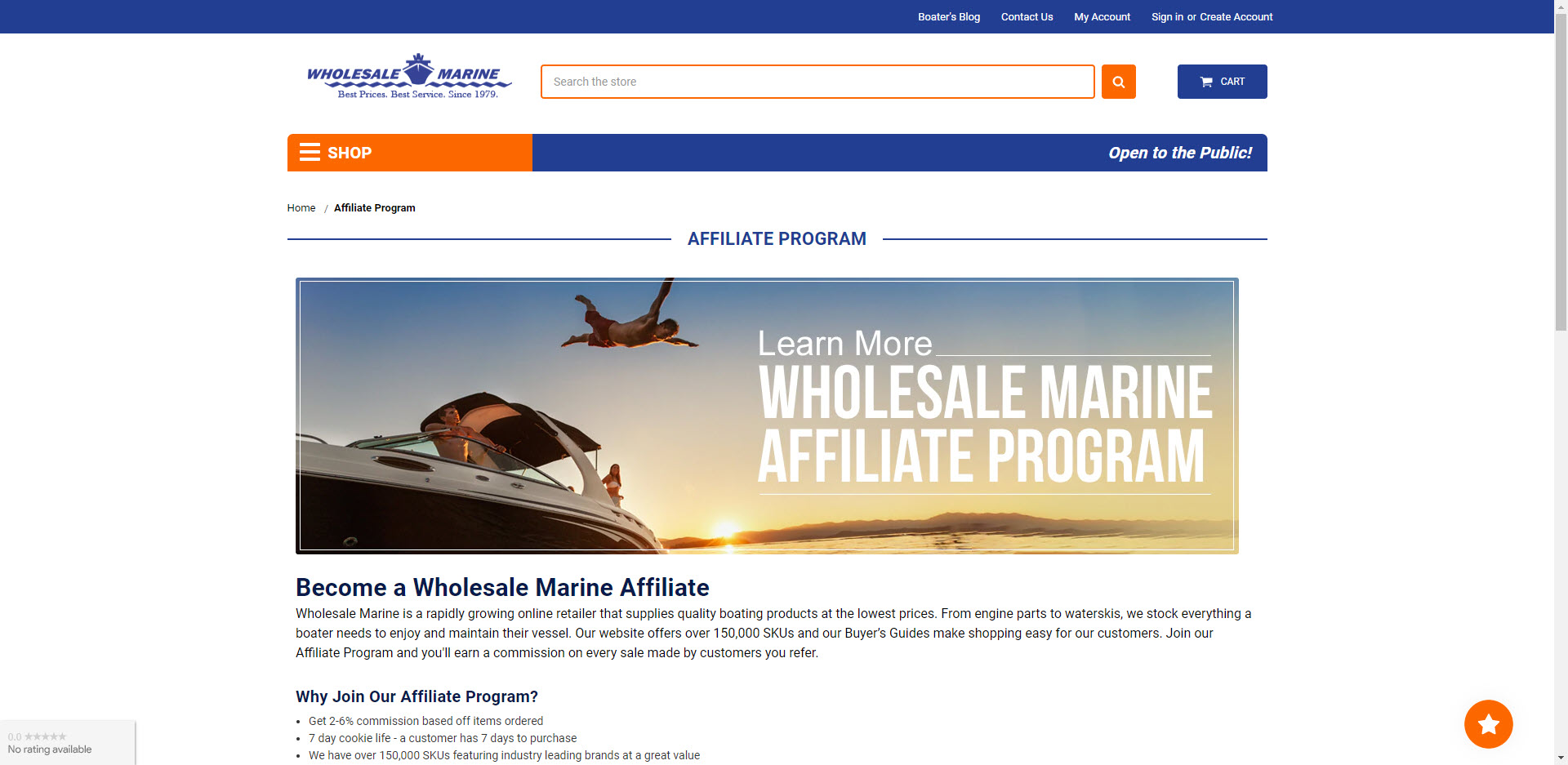 Boat Affiliate Programs - Wholesale Marine affiliate