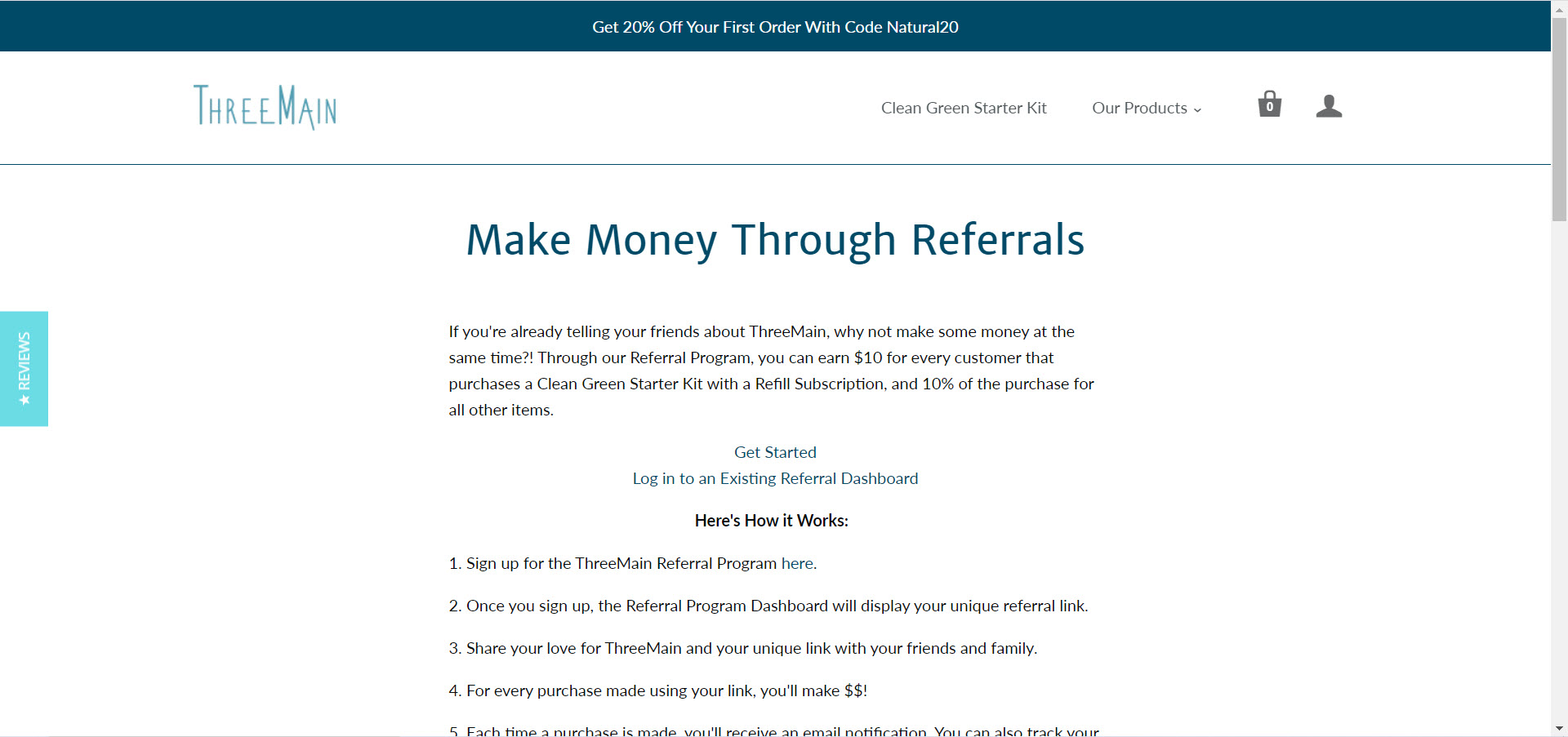 Cleaning Products Affiliate Programs - ThreeMain affiliate