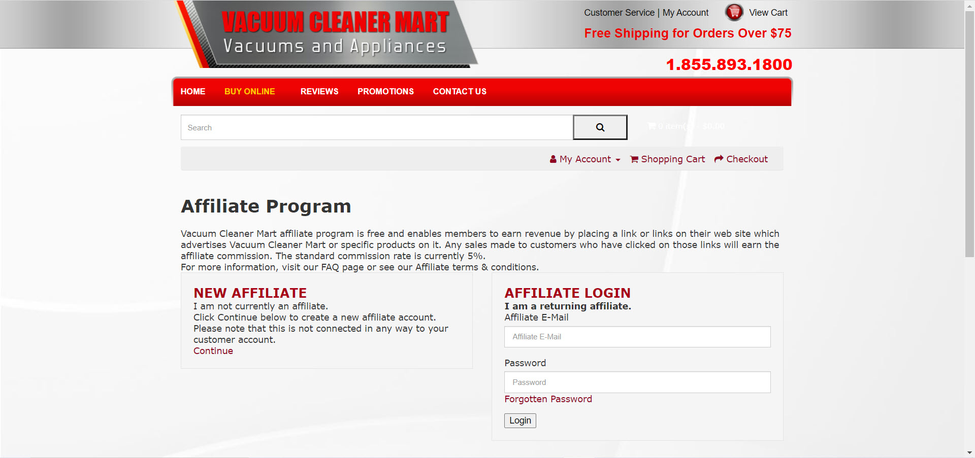 Cleaning Products Affiliate Programs - Vacuum Cleaner Mart affiliate