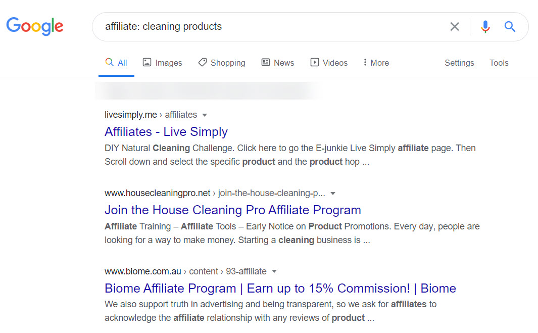 Cleaning Products Affiliate Programs - affiliate