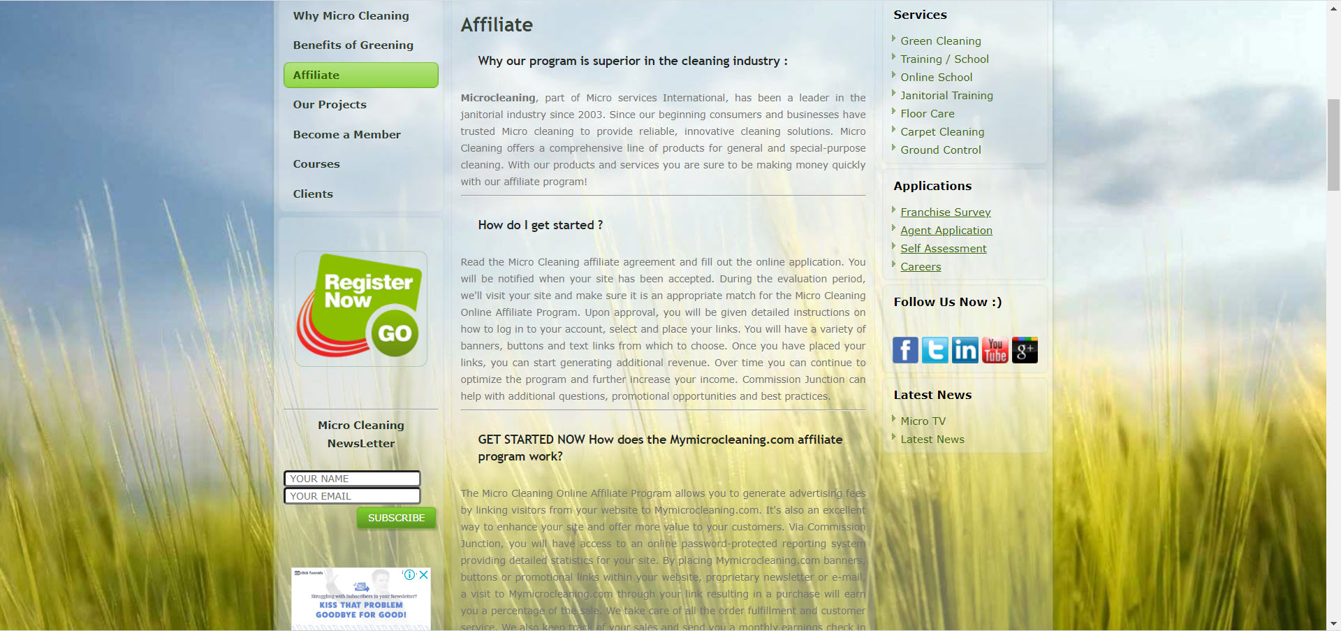 Cleaning Products Affiliate Programs - micro cleaning affiliate