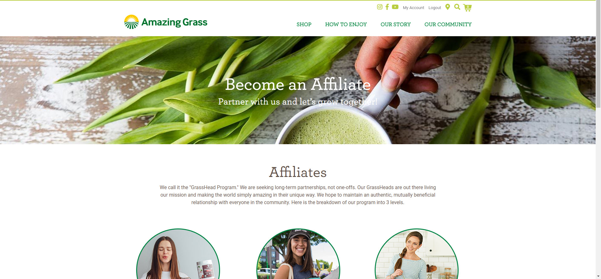 Health Food Affiliate Programs - Amazing Grass affiliate