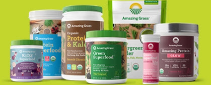 Health Food Affiliate Programs - Amazing Grass stripe