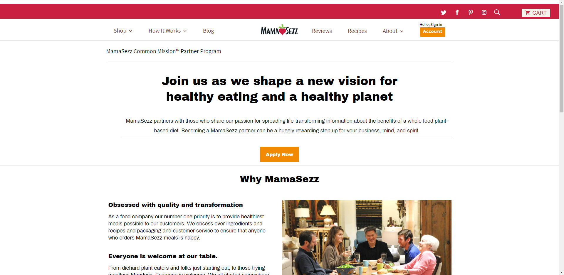 Health Food Affiliate Programs - Mamasezz affiliate