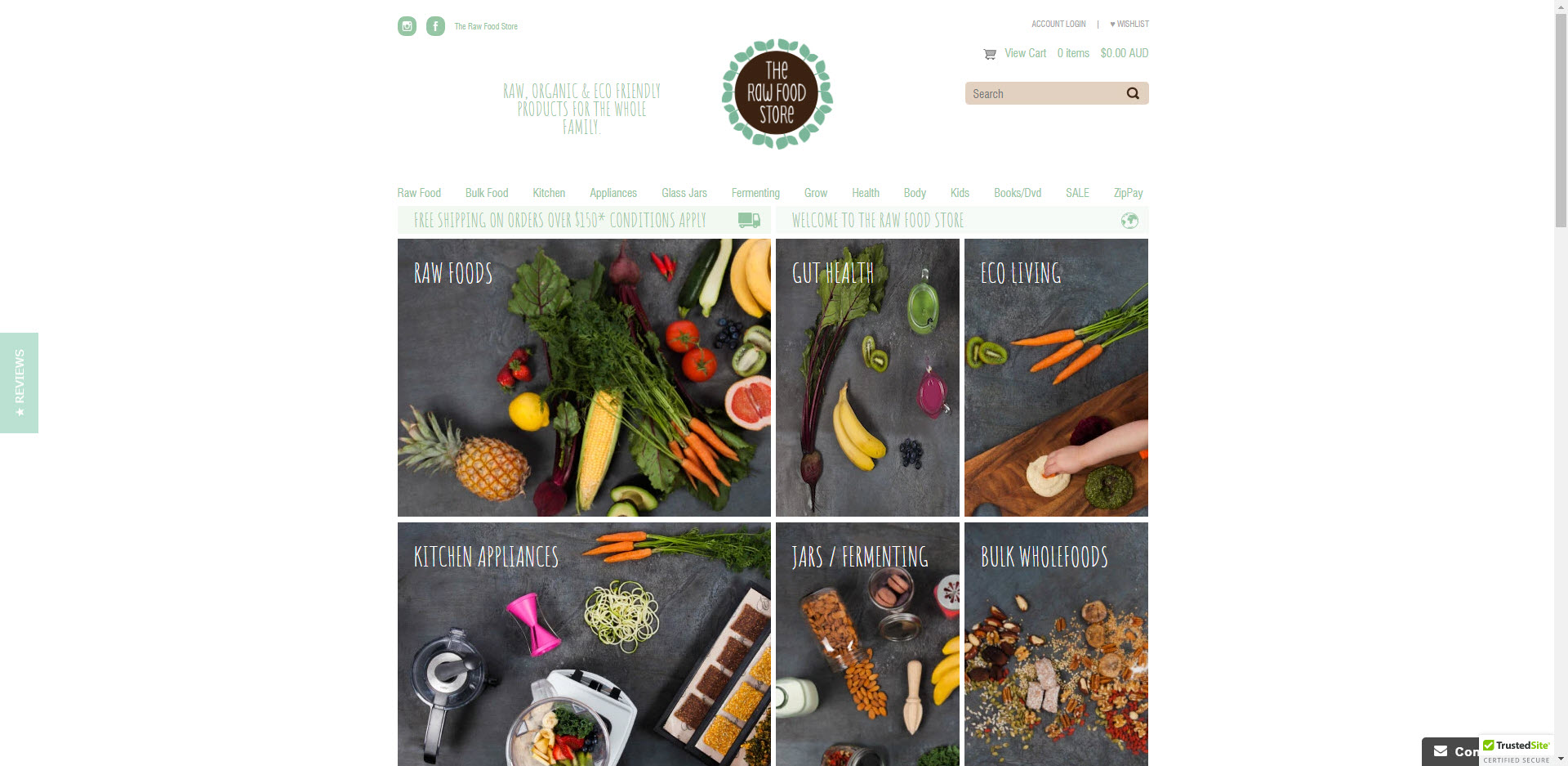 Health Food Affiliate Programs - Raw Food Store