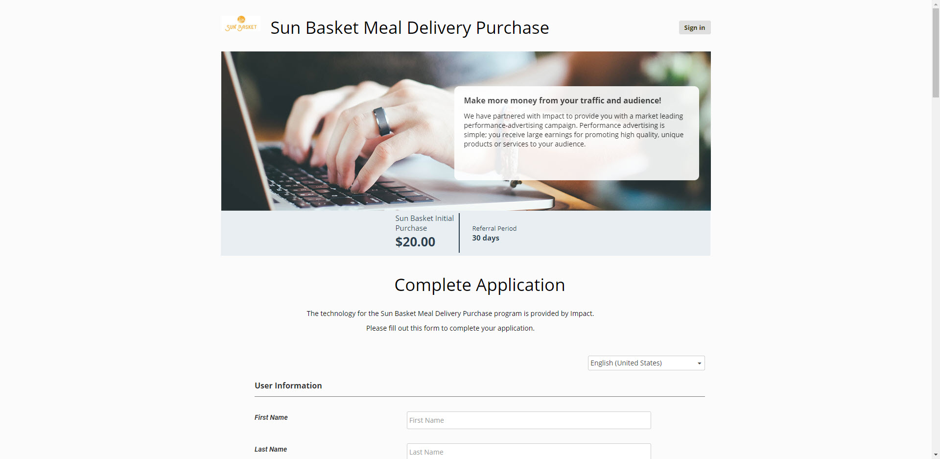 Health Food Affiliate Programs - Sunbasket Affiliate